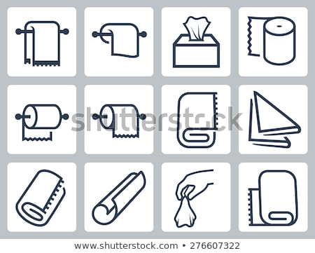 Vector icon box and roll of paper Stock photo © zzve
