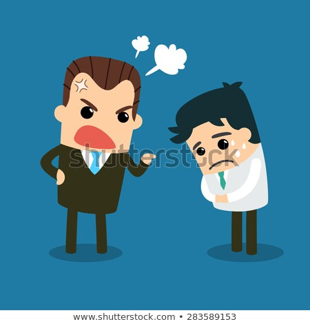 Angry businessman yelling stock photo © Rugdal