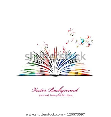 Digitális könyvek absztrakt virág elektronikus vektor Stock fotó © cienpies