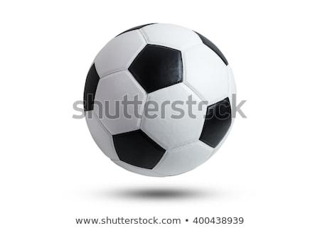 futball · labda · vektor · fekete · fehér - stock fotó © fizzgig