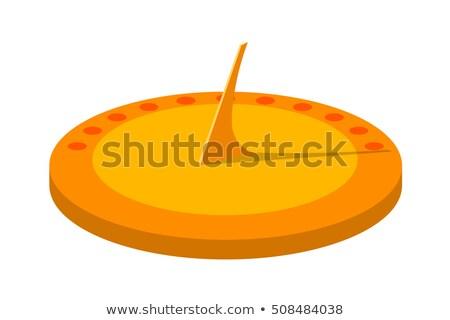 Cartoon zonnewijzer tijd steen Stockfoto © blamb