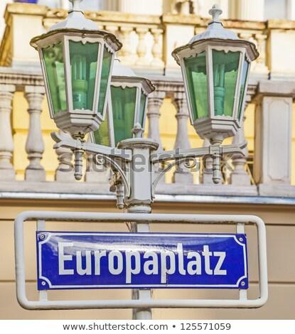 street shield Europa Platz in Bonn  Stock photo © meinzahn