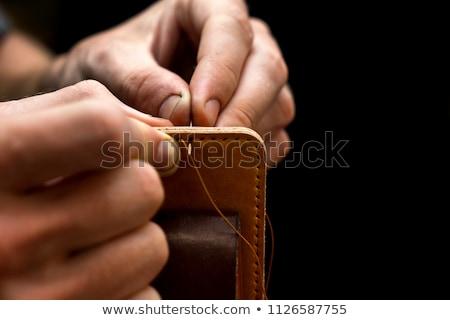 Homemade leather craft tool Stock photo © leungchopan