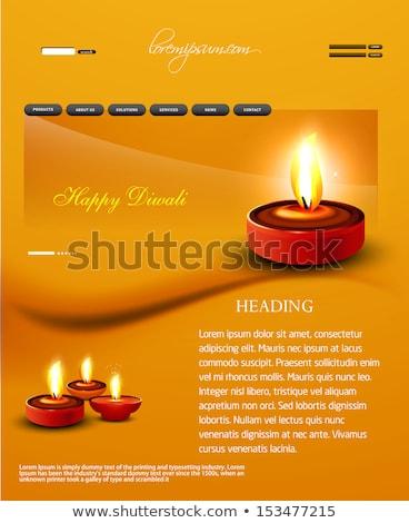 Deepawali diwali diya website template presentation bright color Stock photo © bharat