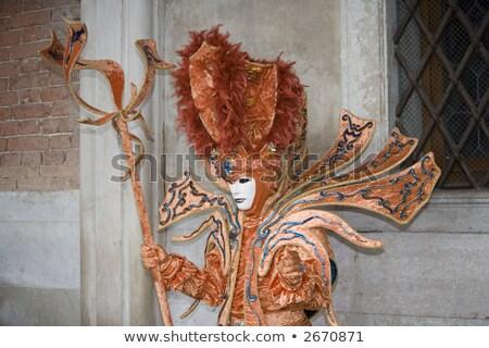 фантастический костюм Венеция карнавальных портрет Италия Сток-фото © raphotos