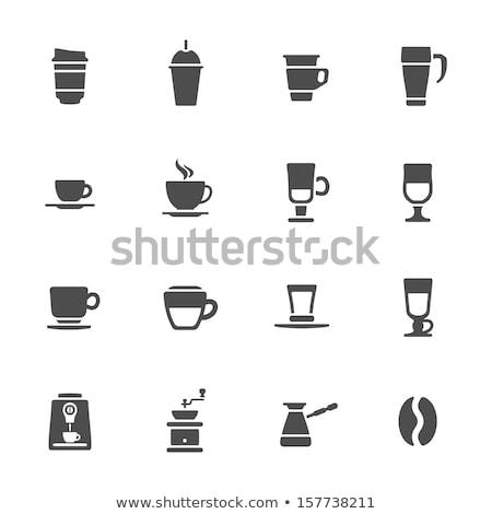 Kahve fincanı turuncu sıcak gıda mutfak restoran Stok fotoğraf © artlens