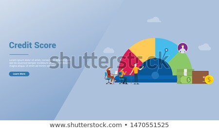 Flat people - statistics Stock photo © AnatolyM