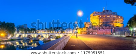 Castle of Holy Angel and Holy Angel Bridge over the Tiber River  Stock photo © anshar