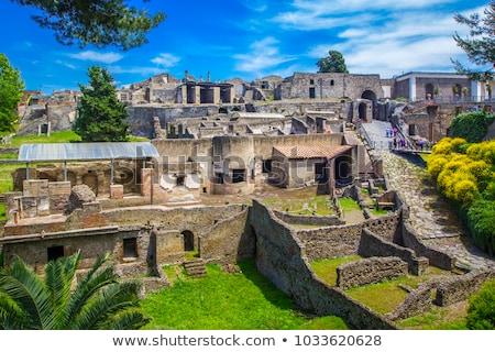 ruínas · Itália · rua · vulcão · céu · edifício - foto stock © sailorr