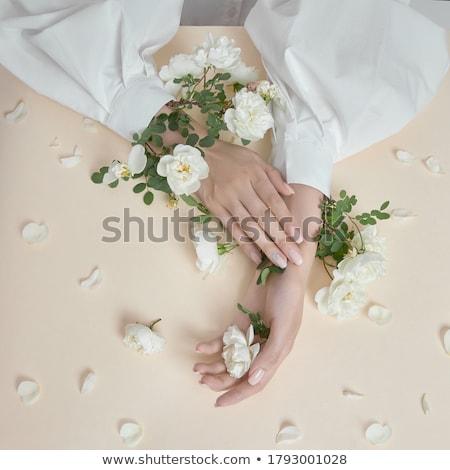 vrouwelijke · nagel · vernis · vrouw - stockfoto © AndreyPopov