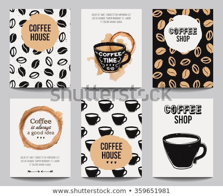 Grunge café cadre grains de café chêne bois Photo stock © FOTOYOU