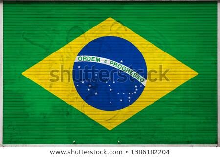 Brazylia banderą kawy worek tekstury surowy Zdjęcia stock © stevanovicigor