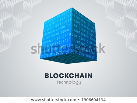 Binario cubo campo tecnología fondo red Foto stock © idesign