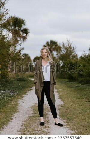 Lenyűgöző aranyos szőke nő hosszú hajú lány szőke Stock fotó © sebastiangauert