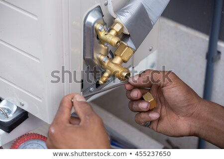 Air conditioner service and shut off valve Stock photo © smuay
