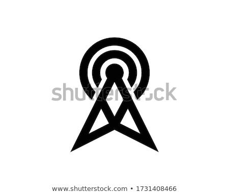 Satélite antena construcción senal olas Foto stock © romvo