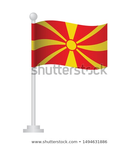 Macedonia pequeño bandera mapa república atención selectiva Foto stock © tashatuvango