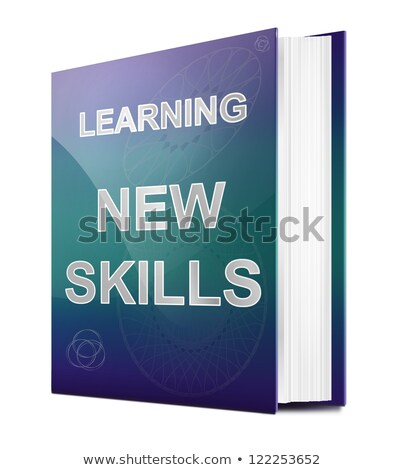 Ausbildung Entwicklung Titel Buch pädagogisch grau Stock foto © tashatuvango
