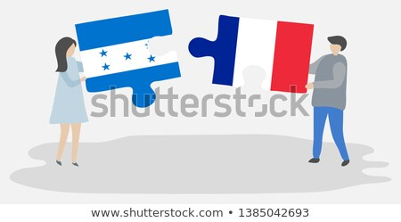 French and Honduras Flags in puzzle Stock photo © Istanbul2009