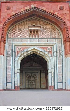 Panorama grób Delhi Indie ogłoszenie przykład Zdjęcia stock © meinzahn