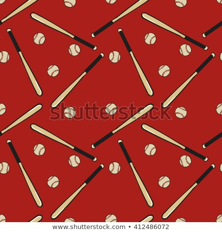 Sketch baseball bat, vector seamless pattern Stock photo © kali