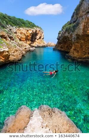 view of S´Algar beach in Menorca, Balearic Islands, Spain Stock photo © diabluses