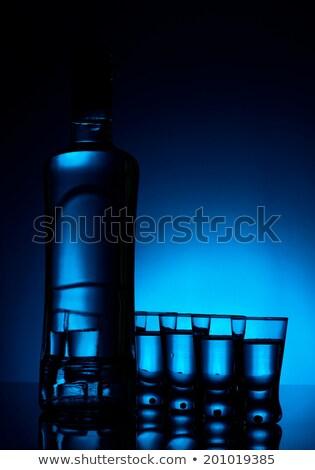 многие · очки · водка · синий · подсветка - Сток-фото © dla4