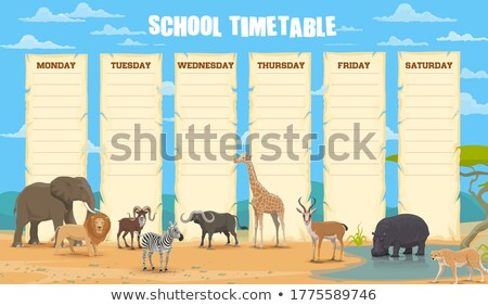 Nature Landscape Design for School Schedule Stock photo © WaD
