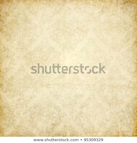 Goud vintage ornament bruin textuur frame Stockfoto © leonido