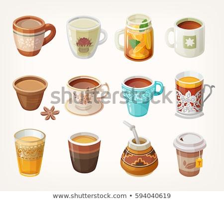 Oolong thee keramische beker jar voorraad Stockfoto © punsayaporn
