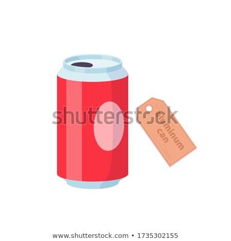 Aluminio beber pueden blanco metal contenedor Foto stock © dezign56
