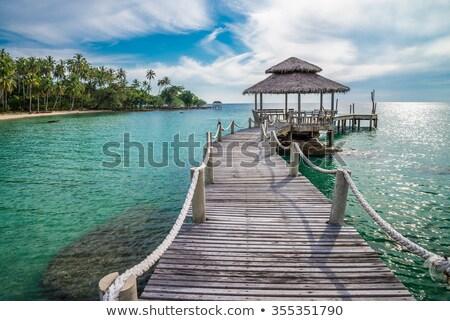 ponte · andar · maneira · oceano · azul · onda - foto stock © thanarat27