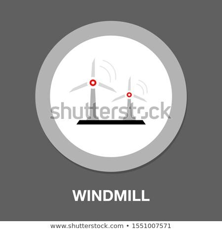 Mulino a vento nero energia vento elettrica ombra Foto d'archivio © Slobelix