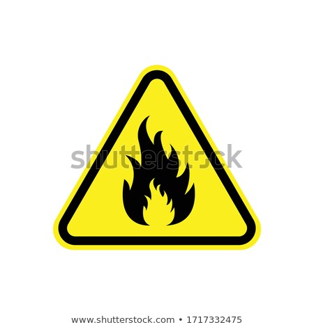 Fire sign. Flammable – Vector illustration stock photo © Mr_Vector