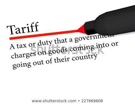 Stock photo: term of tariff underlined in red color by a pen