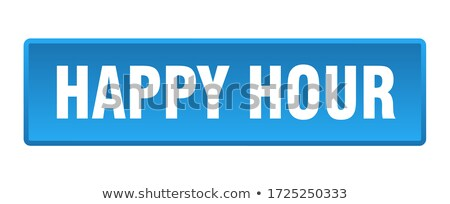 happy hours on blue background in flat design stock photo © tashatuvango
