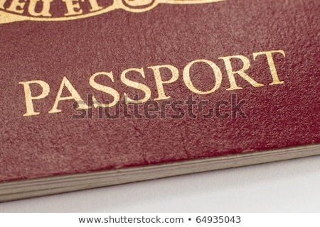 British passport word close up shallow focus. Stock photo © latent