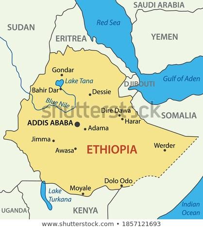 bandera · Etiopía · dibujado · a · mano · ilustración · verde · África - foto stock © mayboro1964