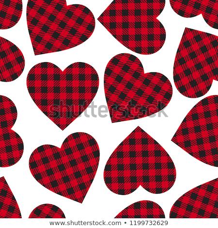 escuro · sem · costura · coração · padrão · projeto · papel - foto stock © slunicko