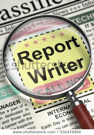 Relazione scrittore giornale lavoro eseguire Foto d'archivio © tashatuvango