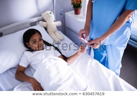 старший · женщину · врач · рук · изображение · пожилого - Сток-фото © andreypopov
