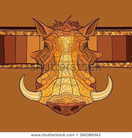 декоративный голову африканских орнамент лице дизайна Сток-фото © ulyankin