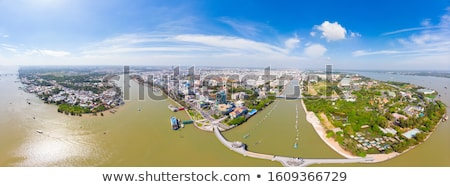 Aerial view of mekong river in Vietnam Stock photo © smithore