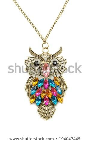 Owl necklace adorned with precious stones. Stock photo © RuslanOmega