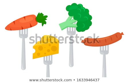 Stock photo: broccoli on a fork