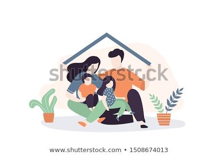 Kettő rajz férfiak jelzálog vásárol otthon Stock fotó © orensila