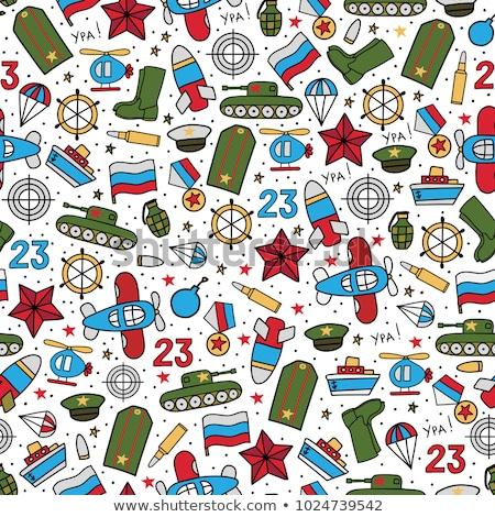 tank seamless pattern 23 february stock photo © popaukropa