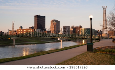 オハイオ州 水辺 タウン マイアミ 川 ストックフォト © cboswell