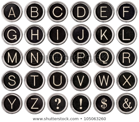 Old fashioned typewriter keys Stock photo © Hofmeester