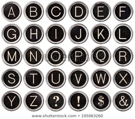 macchina · da · scrivere · chiave · alfabeto · vintage · tasti · isolato - foto d'archivio © hofmeester